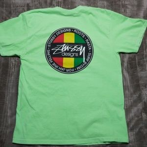 Stussy Shirts - Stussy Highlight Green T-shirt